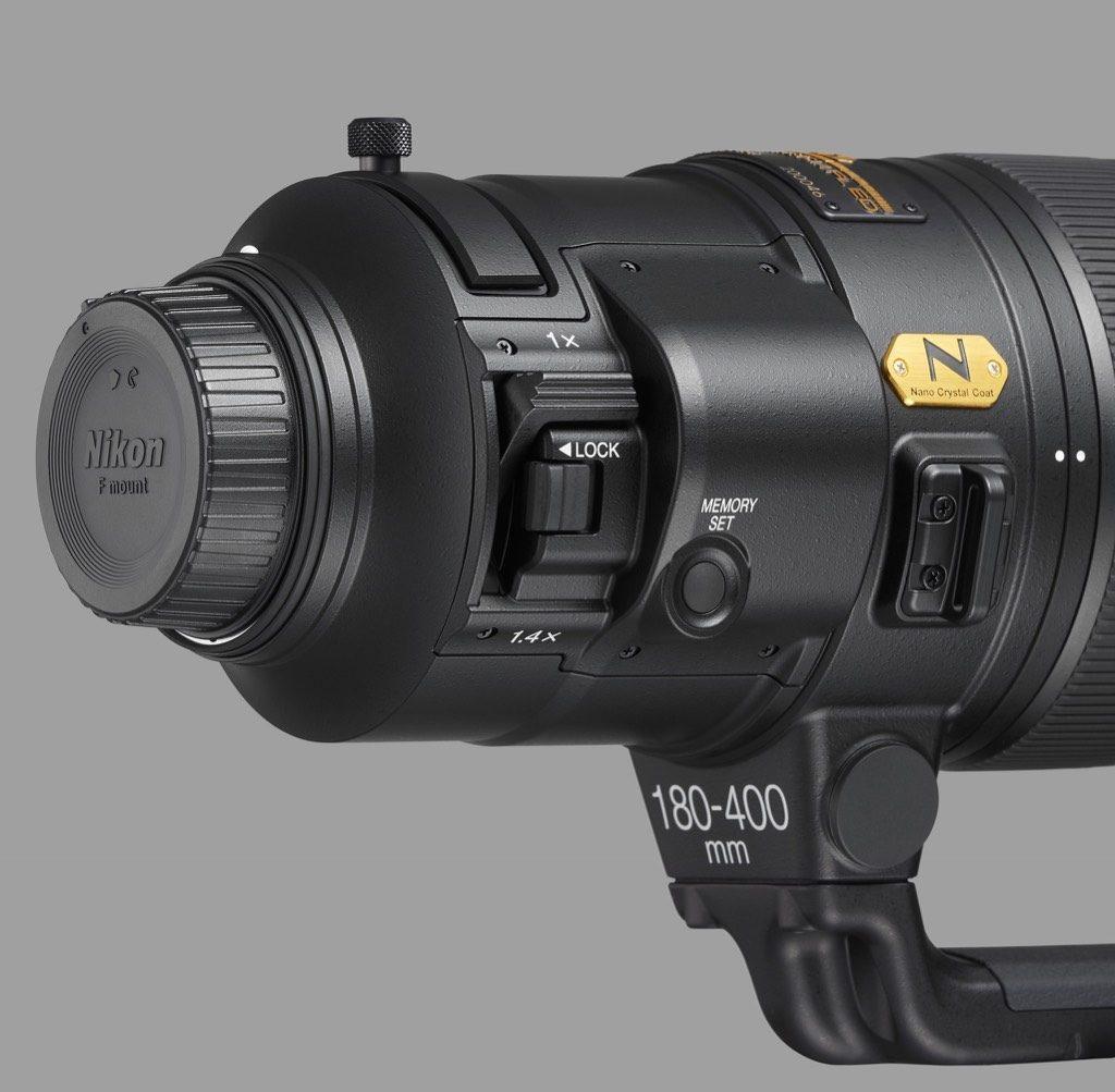 AF-S NIKKOR F4E/180-400mm, teleconverter
