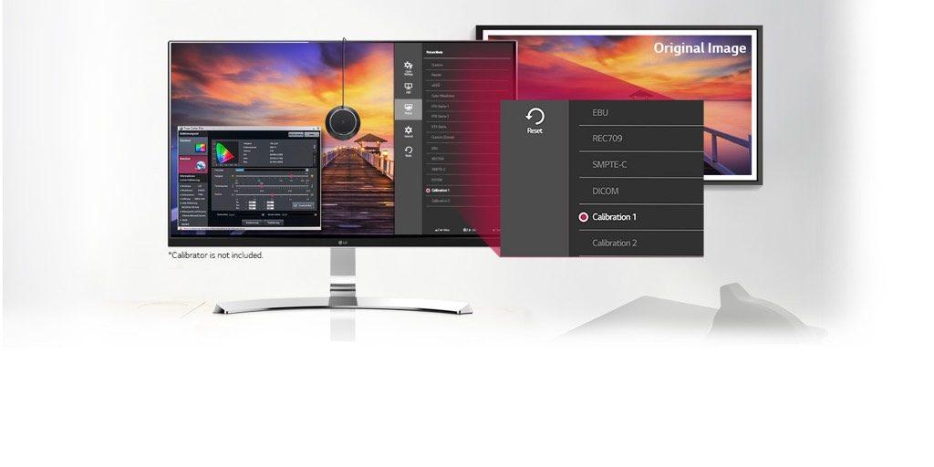 Kalibratie van een monitor.