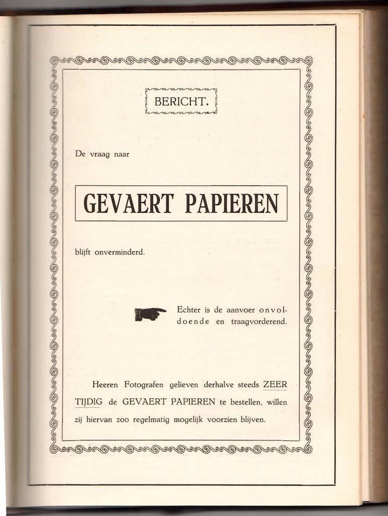 Gevaert Papieren 1918