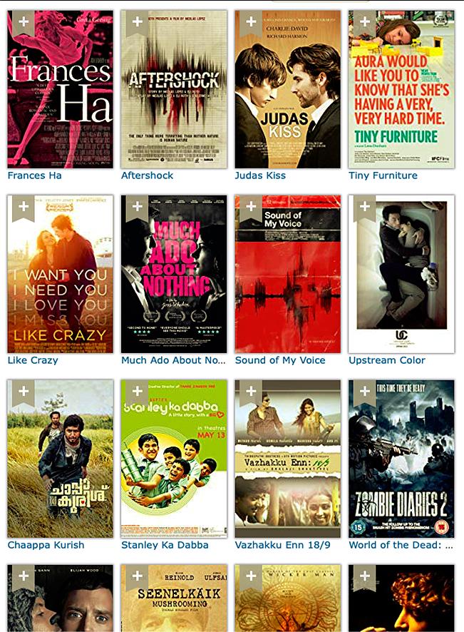 lijst met korte speelfilms van IMDb.com